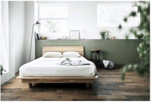 ベッドとマットレスと枕